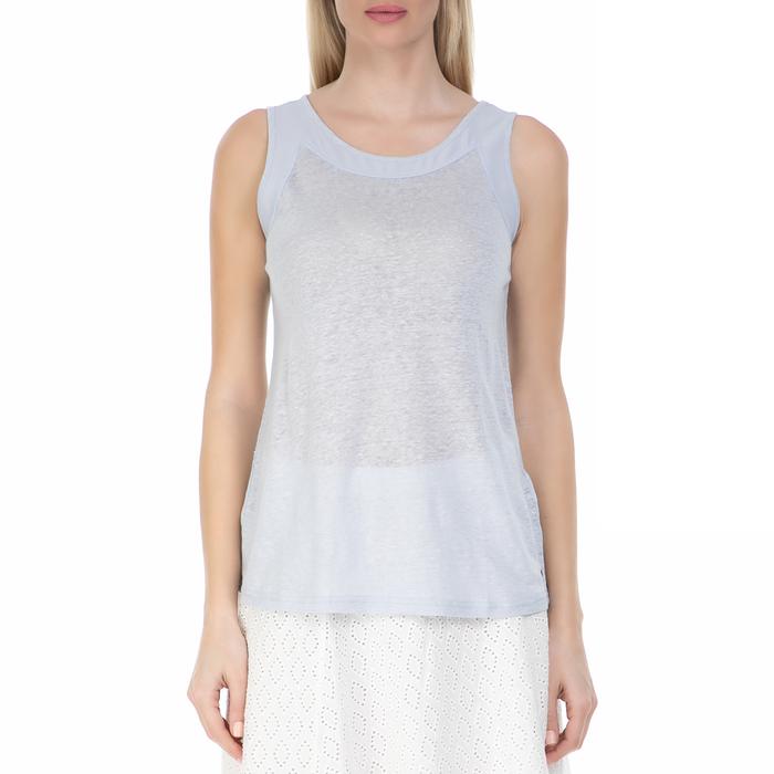 GARCIA JEANS - Γυναικεία αμάνικη μπλούζα GARCIA JEANS γαλάζια