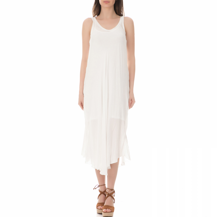 BRAEZ - Γυναικείο μίντι φόρεμα BRAEZ λευκό