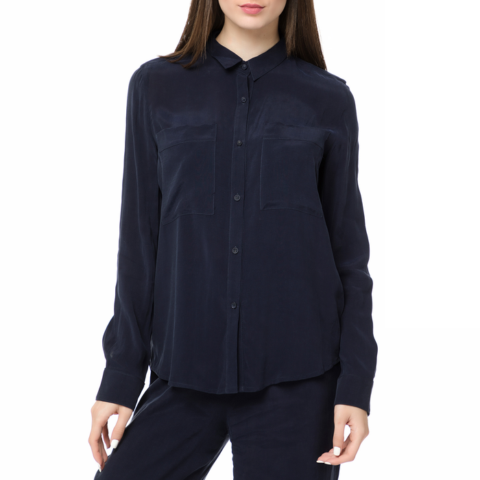 AMERICAN VINTAGE - Γυναικείο μακρυμάνικο πουκάμισο AZA152BE17 AMERICAN VINTAGE σκούρο μπλε