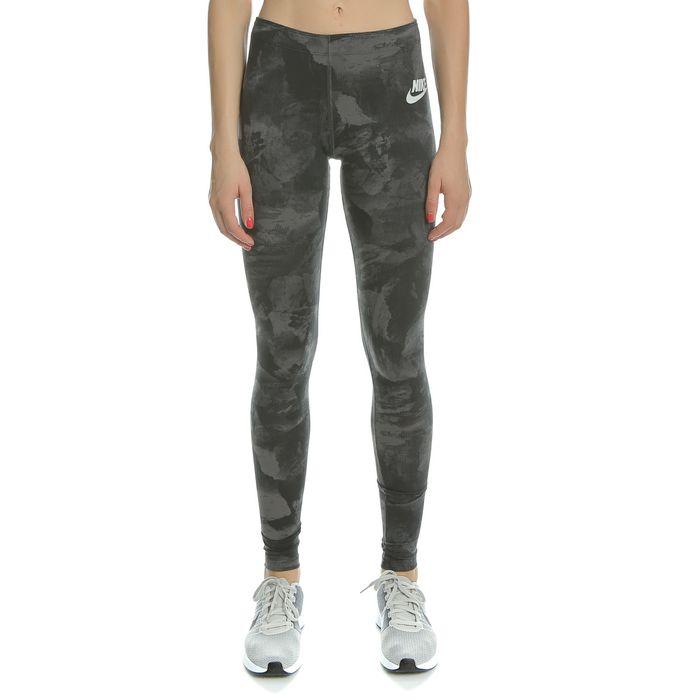 NIKE - Γυναικείο αθλητικό κολάν Nike SW LGGNG GLACIER AOP μαύρο με σχέδιο