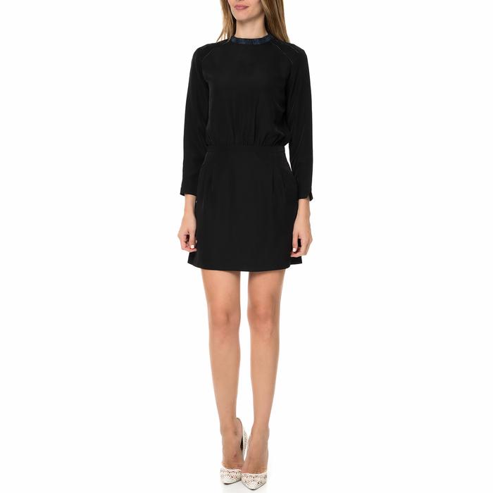 CALVIN KLEIN JEANS - Γυναικείο μακρυμάνικο μίνι φόρεμα CALVIN KLEIN JEANS DECIMA μαύρο