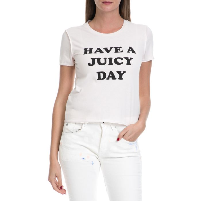 JUICY COUTURE - Γυναικείο T-shirt HAVE A JUICY DAY JUICY COUTURE ροζ