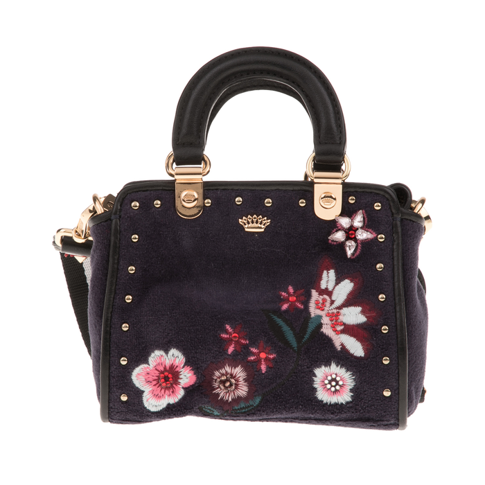 JUICY COUTURE - Γυναικεία τσάντα JUICY COUTURE FAIRMONT FAIRYTALE floral μαύρη