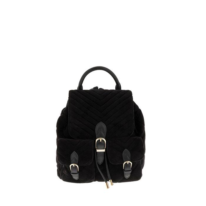 JUICY COUTURE - Γυναικείο σακίδιο backpack βελούδινο Juicy Couture μαύρο