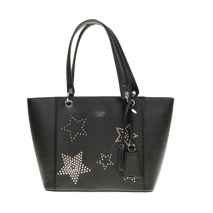 GUESS - Γυναικεία τσάντα χειρός Guess KAMRYN TOTE μαύρη με αστέρια