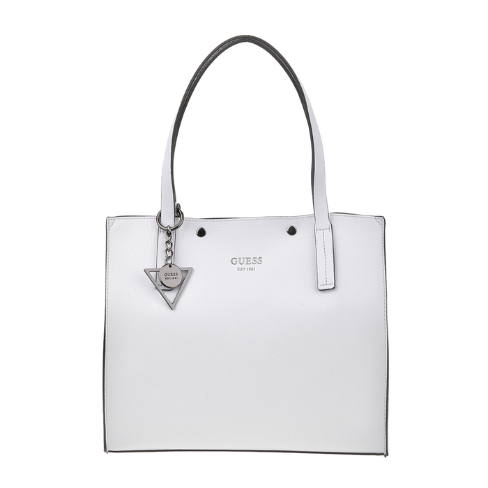 GUESS - Γυναικεία τσάντα ώμου GUESS KINLEY λευκή