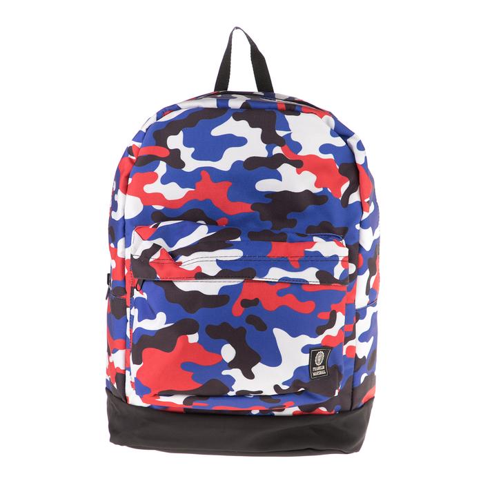 FRANKLIN & MARSHALL - Τσάντα πλάτης διπλής όψης FRANKLIN & MARSHALL μπλε-μαύρη