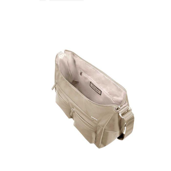 SAMSONITE - Γυναικεία τσάντα ώμου SAMSONITE MOVE 2.0 SHOULD.BAG L+2 POCK μπεζ