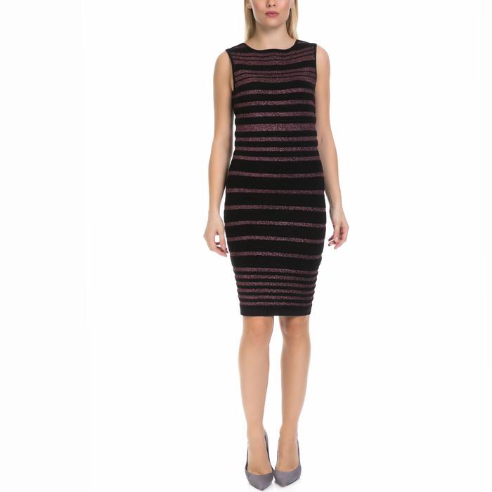 GUESS - Γυναικείο φόρεμα MINA GUESS μαύρο-μοβ