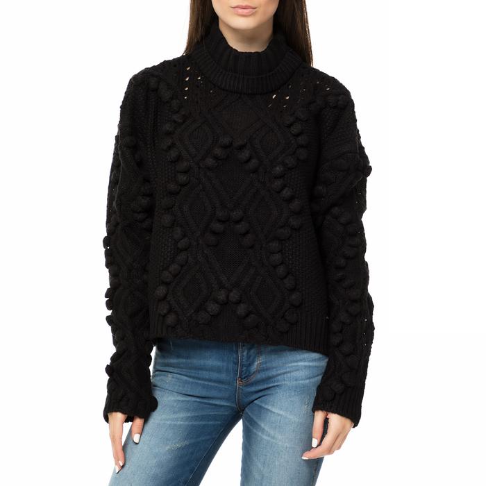 GUESS - Γυναικείο πουλόβερ με ζιβάγκο GUESS VANDA SWEATER μαύρο