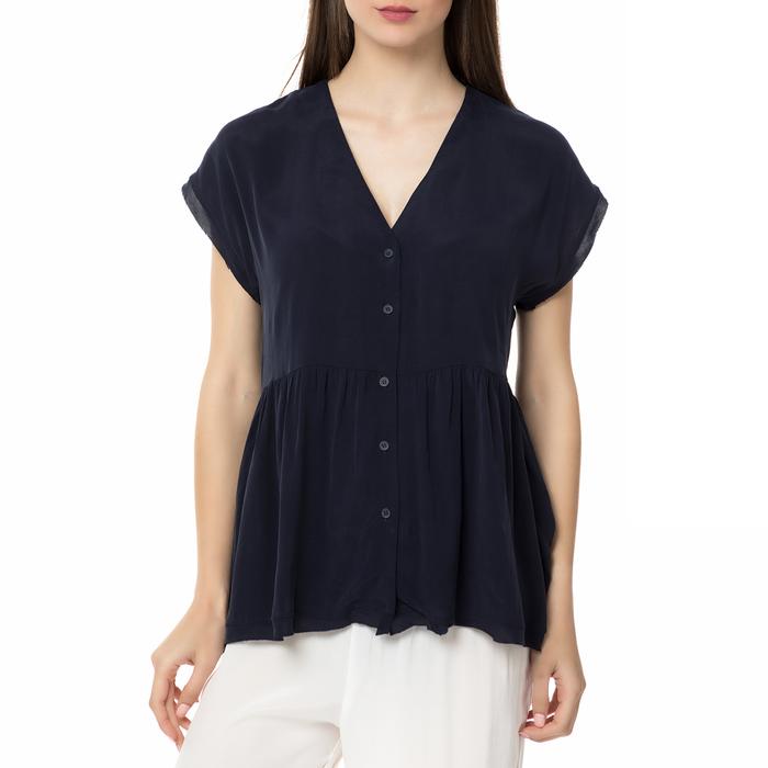 AMERICAN VINTAGE - Γυναικείο κοντομάνικη πουκαμίσα AZA157BE17 AMERICAN VINTAGE μπλε
