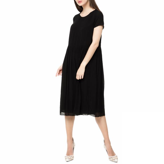 AMERICAN VINTAGE - Γυναικείο midi φόρεμα NEY111E17 AMERICAN VINTAGE μαύρο