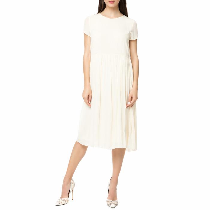AMERICAN VINTAGE - Γυναικείο midi φόρεμα NEY111E17 AMERICAN VINTAGE λευκό