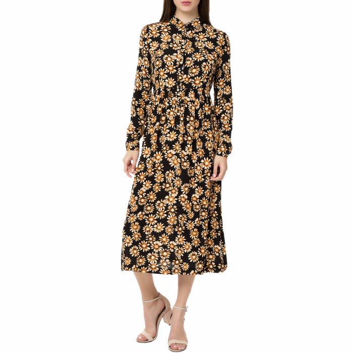 AMERICAN VINTAGE - Γυναικείο μίντι φόρεμα POME166BE17 AMERICAN VINTAGE με φλοράλ μοτίβο