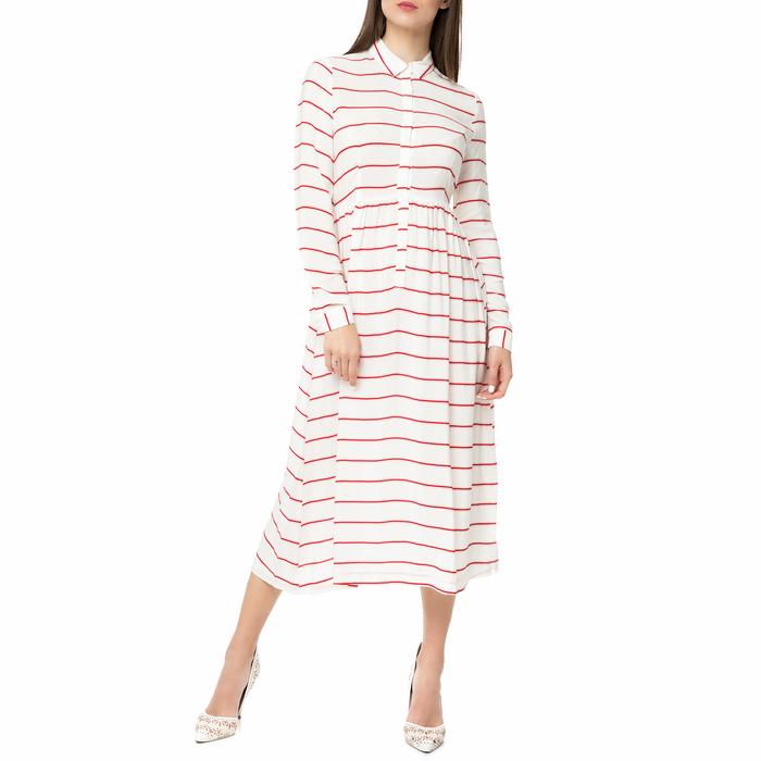 AMERICAN VINTAGE - Γυναικείο midi φόρεμα POME166BE17 AMERICAN VINTAGE ριγέ