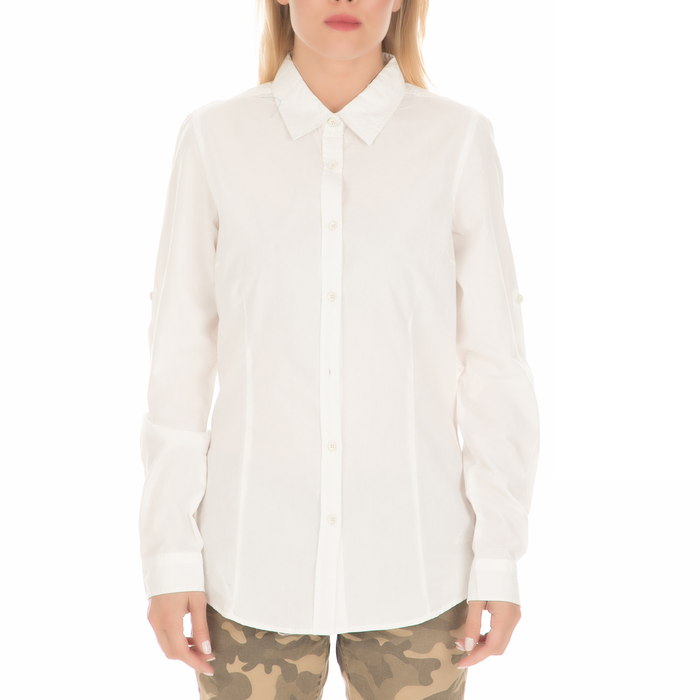 DEVERGO JEANS - Γυναικείο πουκάμισο DEVERGO JEANS λευκό