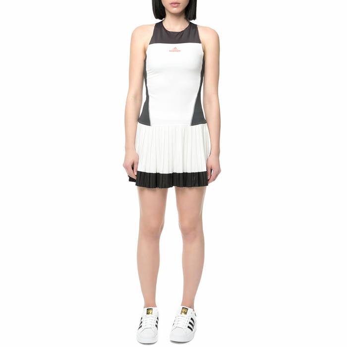 adidas McCartney - Γυναικείο φόρεμα τένις adidas λευκό - μαύρο
