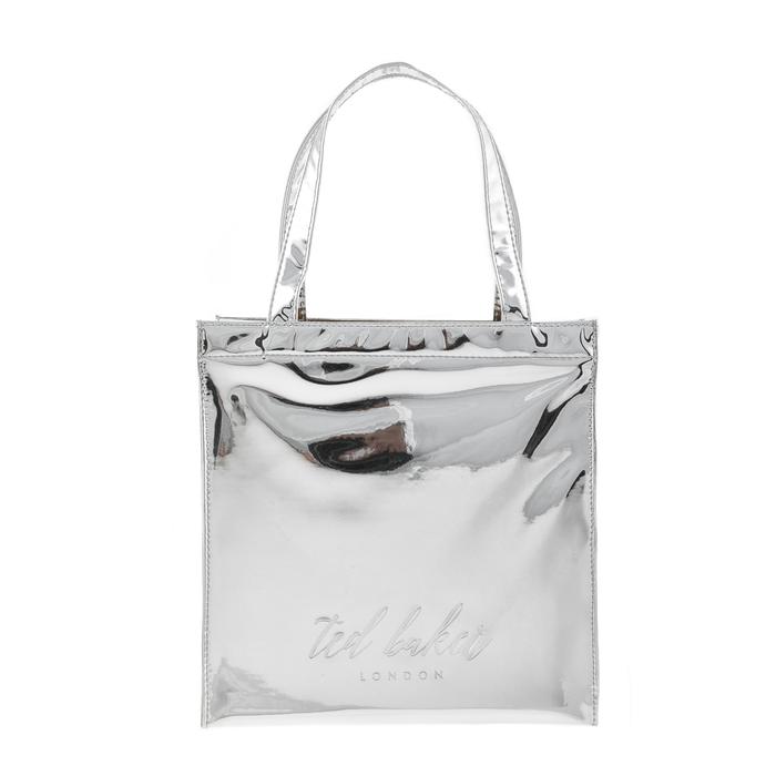 TED BAKER - Γυναικεία τσάντα χειρός DORACON TED BAKER ασημένια