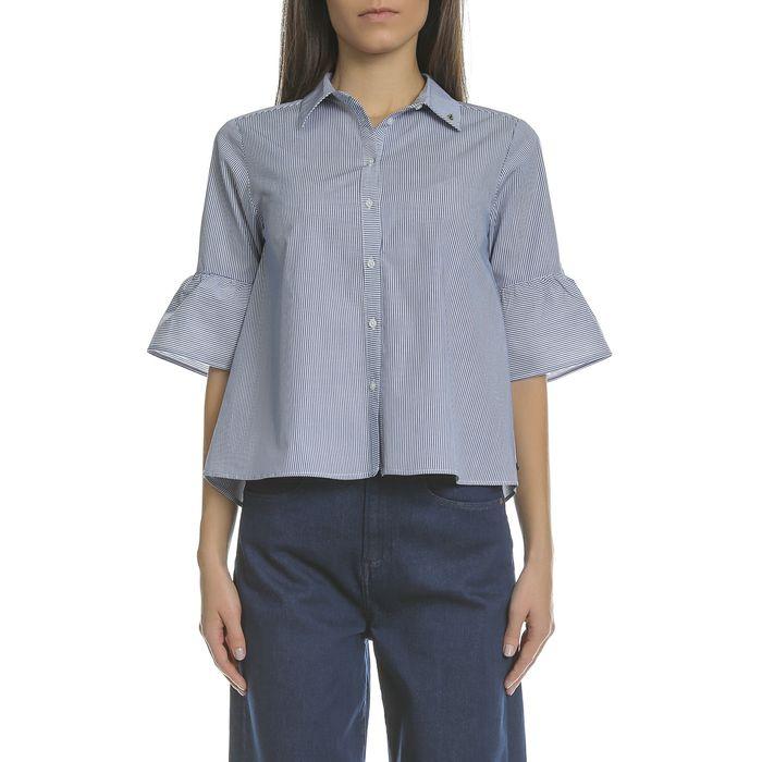 SCOTCH & SODA - Γυναικείο πουκάμισο SCOTCH & SODA μπλε-λευκό