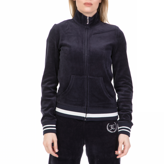 JUICY COUTURE - Γυναικεία ζακέτα με κουκούλα VLR LEGACY JUICY COUTURE μπλε
