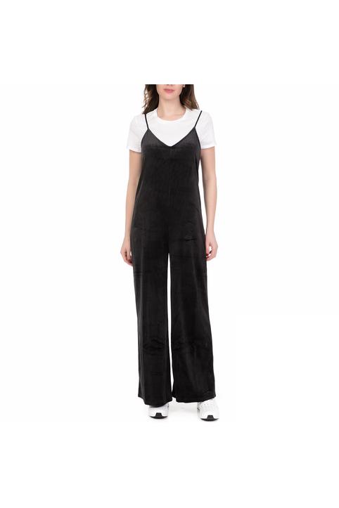 JUICY COUTURE - Γυναικεία ολόσωμη φόρμα JUICY COUTURE WIDE LEG CAMI μαύρη
