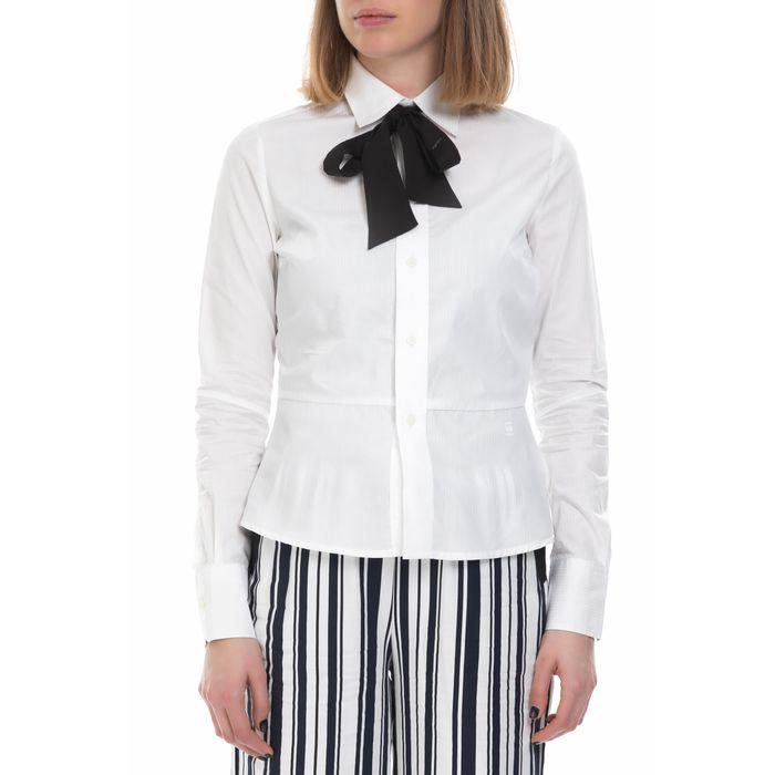 G-STAR RAW - Γυναικείο μακρυμάνικο πουκάμισο G-Star Raw λευκό