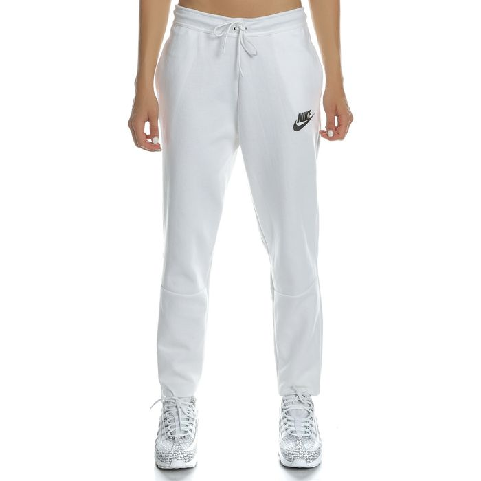 NIKE - Γυναικείο παντελόνι φόρμας NIKE NSW AV15 PANT KNT λευκό