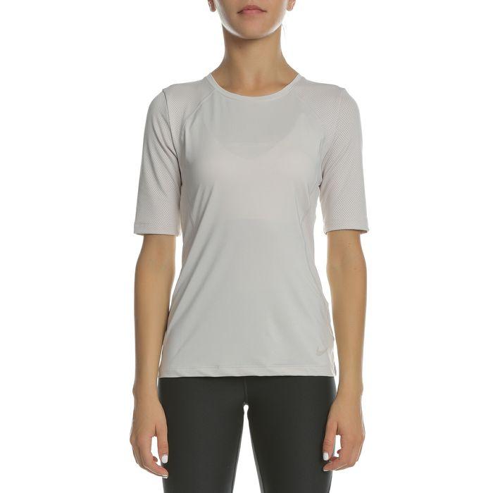NIKE - Γυναικεία αθλητική μπλούζα ΝΙΚΕ P HPRCL SS TOP εκρού