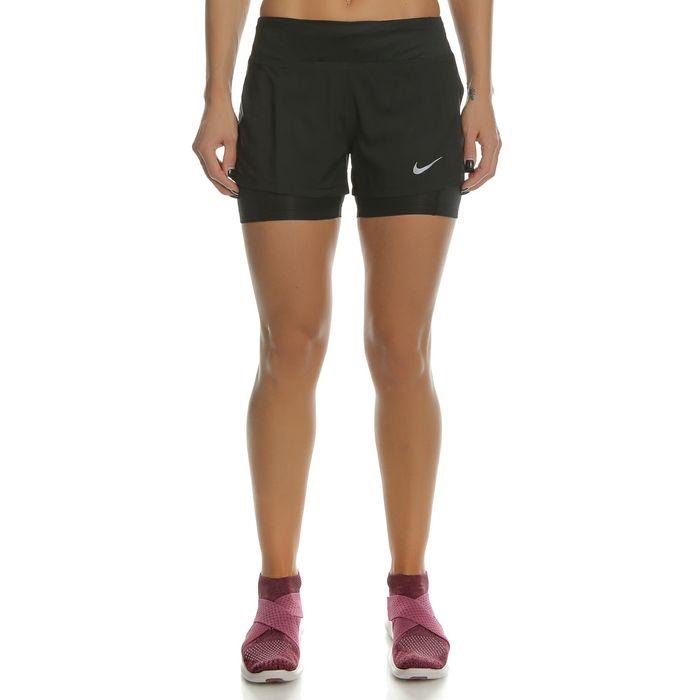 NIKE - Γυναικείο αθλητικό σορτς με κολάν Nike ECLIPSE 2IN1 μαύρο