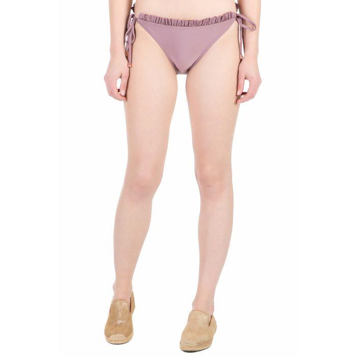 TED BAKER - Γυναικείο κλασικό σλιπ μπικίνι FRISELL FRILL μοβ-ροζ