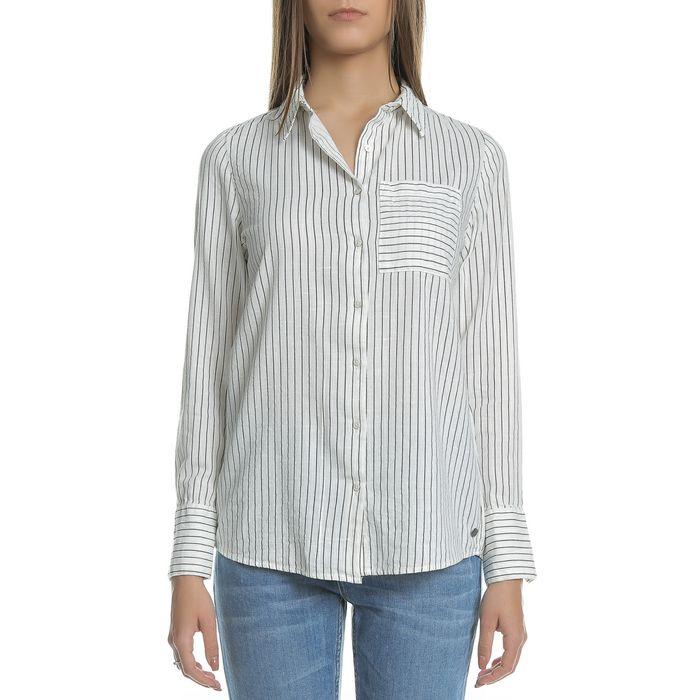 GARCIA JEANS - Γυναικείο μακρυμάνικο ριγέ πουκάμισο Garcia Jeans