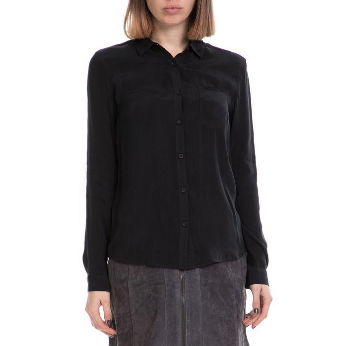 AMERICAN VINTAGE - Γυναικείο πουκάμισο AMERICAN VINTAGE μαύρο