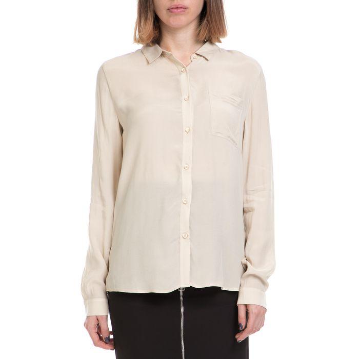 AMERICAN VINTAGE - Γυναικείο πουκάμισο AMERICAN VINTAGE εκρού