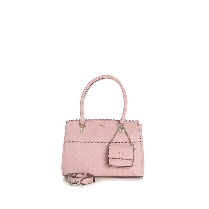 GUESS - Γυναικεία τσάντα χειρός RAYNA SATCHEL GUESS ροζ