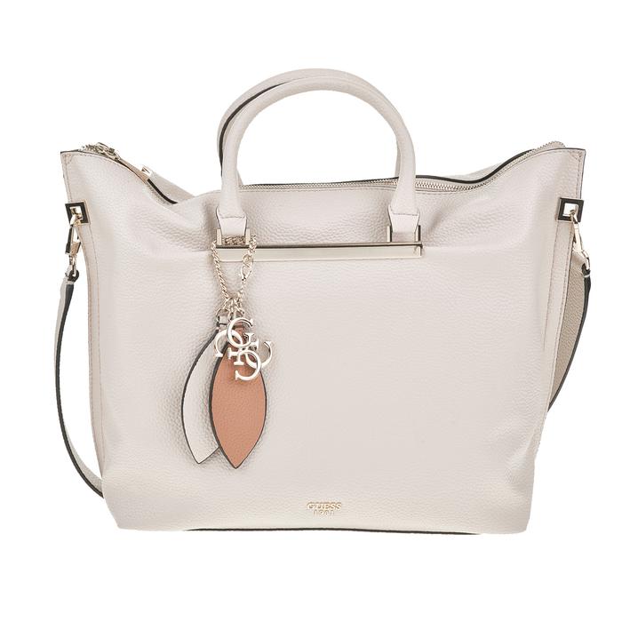 GUESS - Γυναικεία τσάντα χειρός GUESS LOU LOU LARGE γκρι ανοιχτό