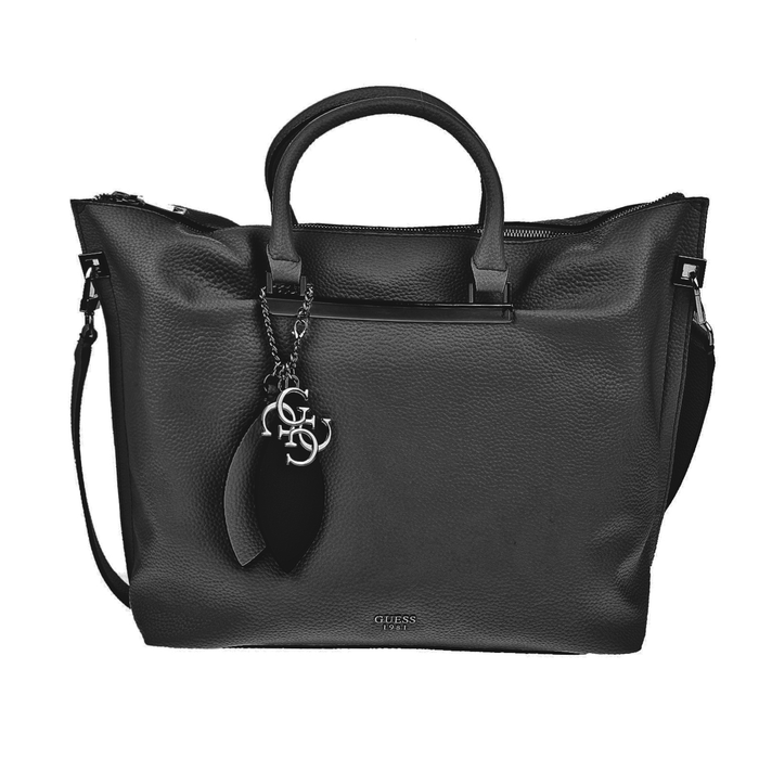 GUESS - Γυναικεία τσάντα χειρός GUESS LOU LOU LARGE μαύρη