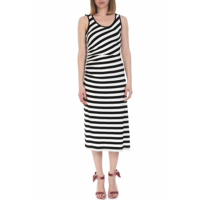 GAS - Γυναικείο μακρύ φόρεμα GAS άσπρο - μαύρο