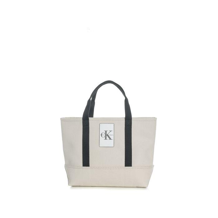 CALVIN KLEIN JEANS - Unisex τσάντα χειρός Calvin Klein Jeans CANVAS CARRYALL TOTE εκρού