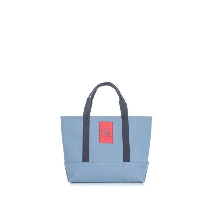CALVIN KLEIN JEANS - Unisex τσάντα χειρός Calvin Klein Jeans CANVAS CARRYALL TOTE μπλε