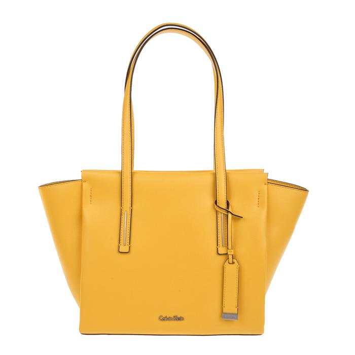 CALVIN KLEIN JEANS - Γυναικεία τσάντα ώμου Calvin Klein Jeans FRAME MEDIUM κίτρινη