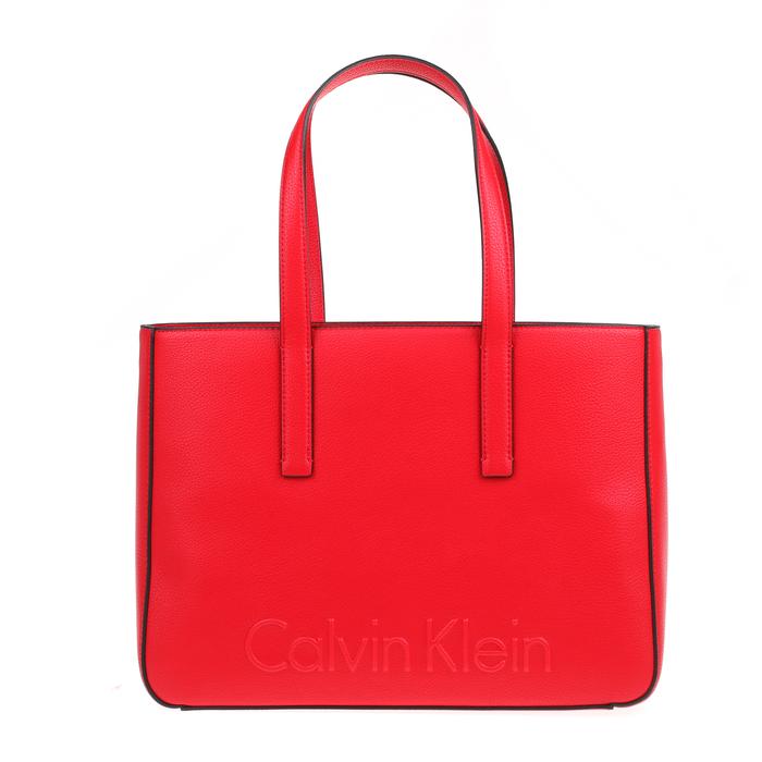 CALVIN KLEIN JEANS - Γυναικεία τσάντα χειρός EDGE CALVIN KLEIN JEANS κόκκινη
