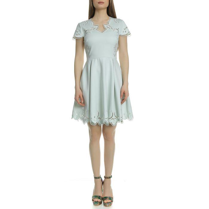 TED BAKER - Γυναικείο μίνι φόρεμα TED BAKER SALOANE πράσινο