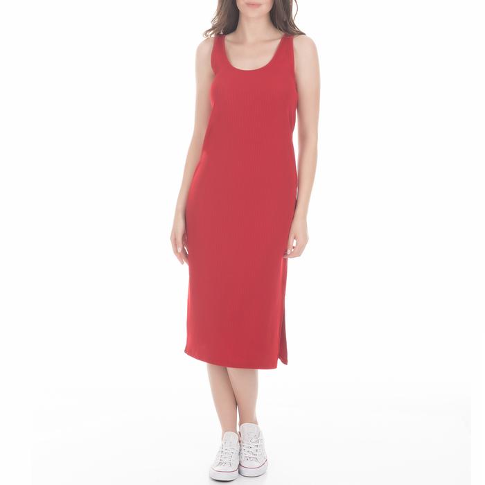 CALVIN KLEIN JEANS - Γυναικείο midi φόρεμα CALVIN KLEIN JEANS κόκκινο