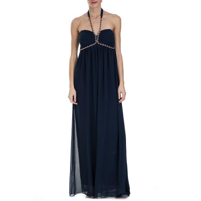 GUESS - Γυναικείο μάξι φόρεμα Guess μπλε