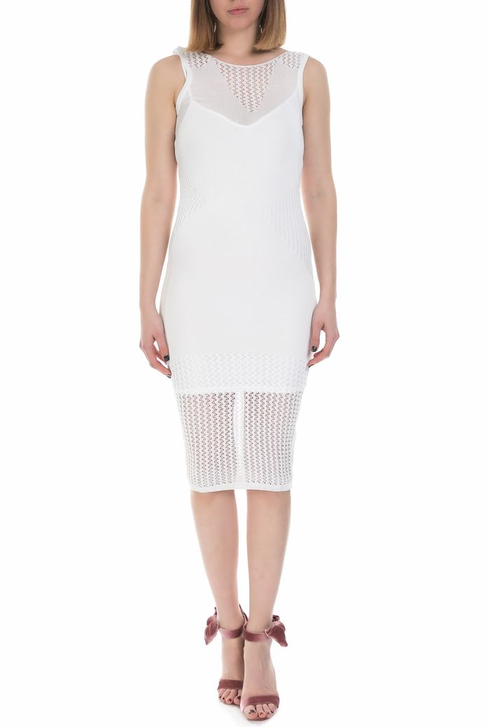 GUESS - Γυναικείο midi αμάνικο φόρεμα Guess λευκό