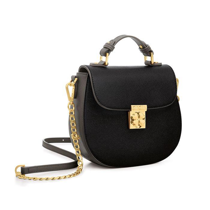 FOLLI FOLLIE - Γυναικεία μικρή τσάντα χιαστί FOLLI FOLLIE μαύρη