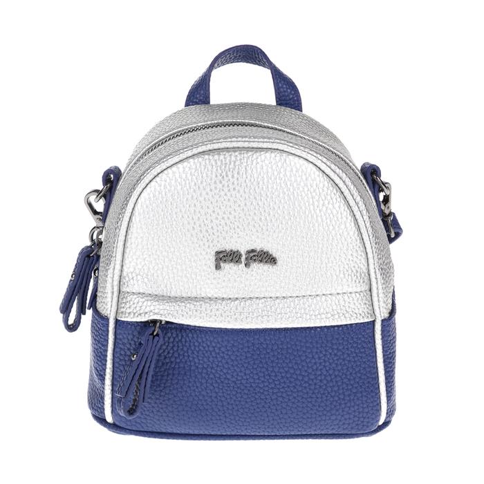 FOLLI FOLLIE - Γυναικεία τσάντα πλάτης FOLLI FOLLIE μπλε-ασημί