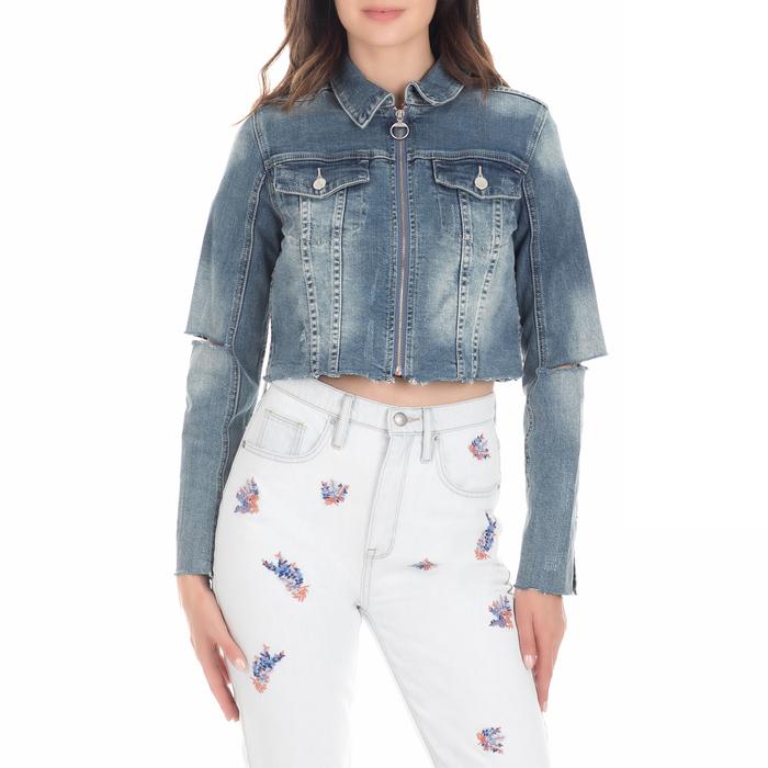 JUICY COUTURE - Γυναικείο τζιν jacket JUICY LOGO PATCH μπλε