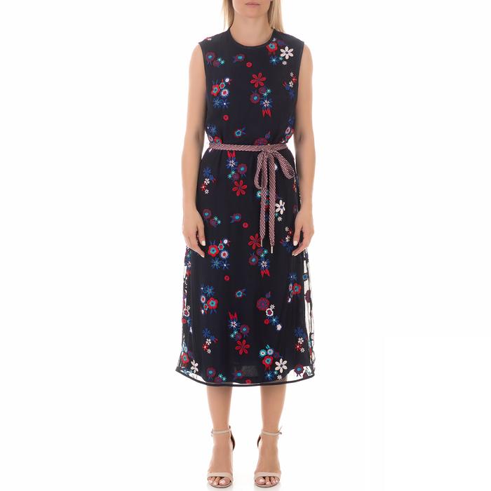 JUICY COUTURE - Γυναικείο μάξι φόρεμα JUICY COUTURE HAYWORTH floral μπλε