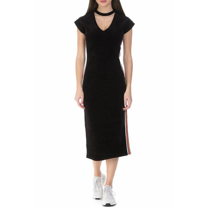 JUICY COUTURE - Γυναικείο midi φόρεμα Juicy Couture μαύρο